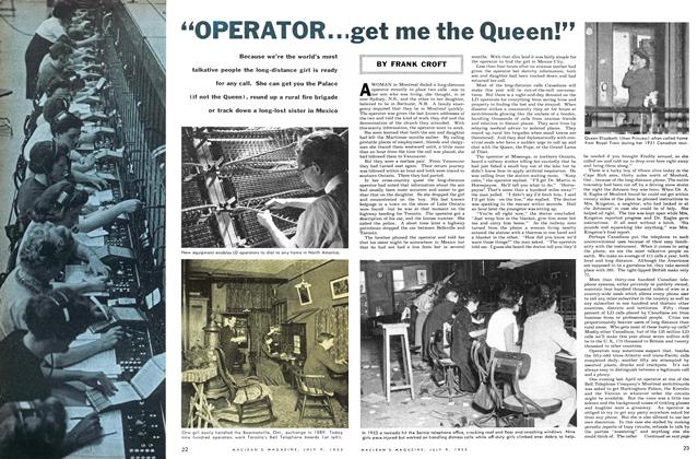 "Article Preview: ""OPERATOR... get me the Queen!"", July 1955 
