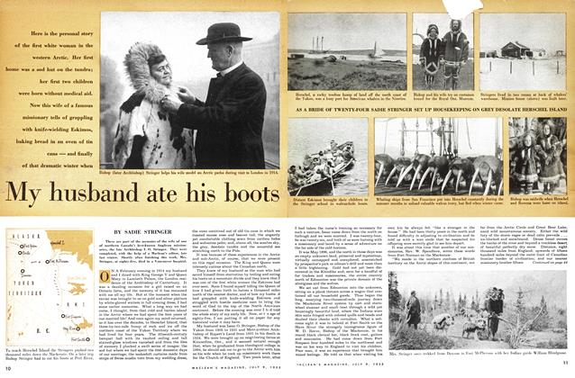 Article Preview: My husband ate his boots, July 1955 | Maclean's