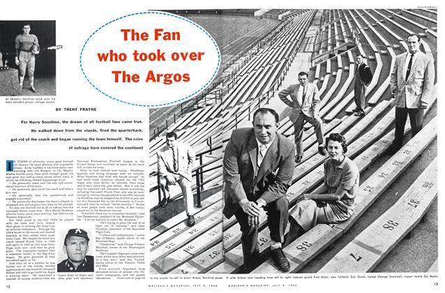 Article Preview: The Fan who took over The Argos, July 1955 | Maclean's