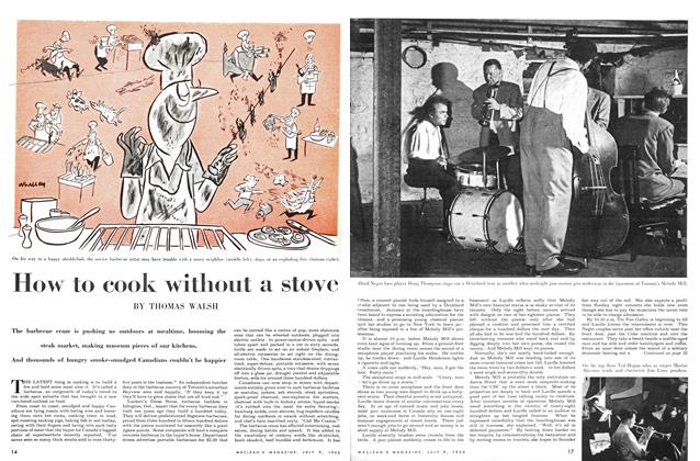 Article Preview: How to cook without a stove, July 1955 | Maclean's
