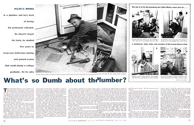 Article Preview: What's so Dumb about the Plumber?, July 1955 | Maclean's