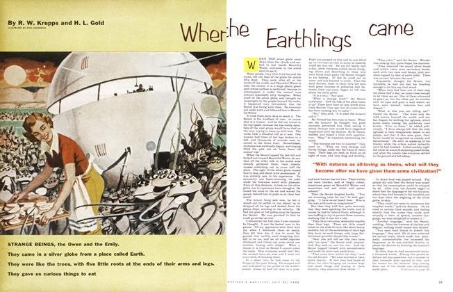 Article Preview: When the Earthlings came, July 1955 | Maclean's