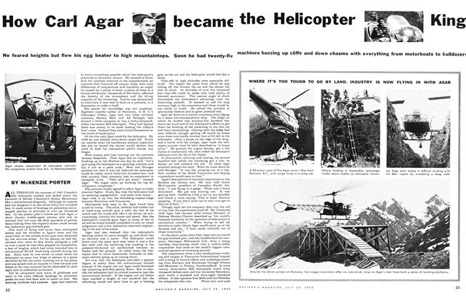 Article Preview: How Carl Agar became the Helicopter King, July 1955 | Maclean's