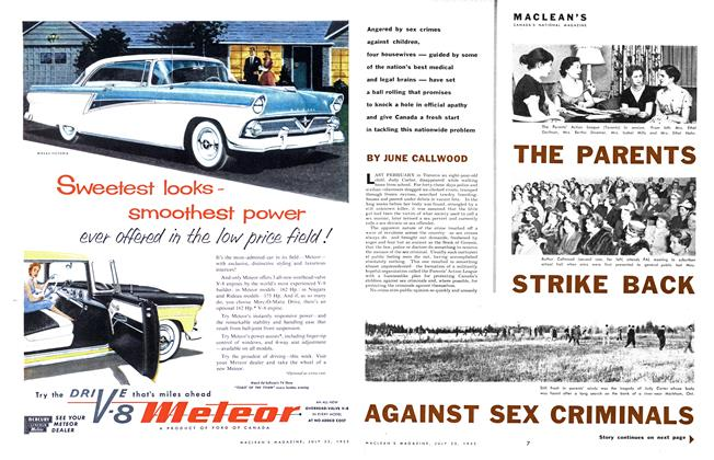 Article Preview: THE PARENTS STRIKE BACK AGAINST SEX CRIMINALS, July 1955 | Maclean's