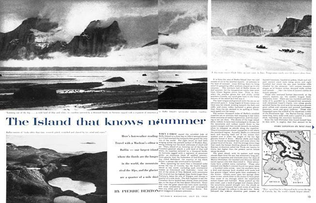 Article Preview: The Island that knows no summer, July 1955 | Maclean's
