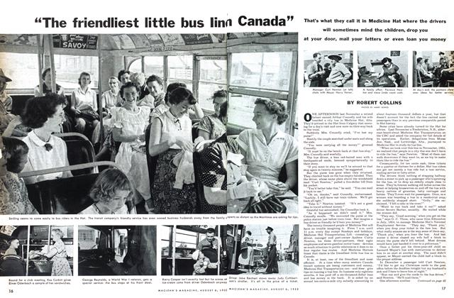 "Article Preview: ""The friendliest little bus line in Canada"", August 1955 