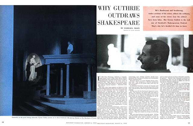 Article Preview: WHY GUTHRIE OUTDRAWS SHAKESPEARE, August 1955 | Maclean's