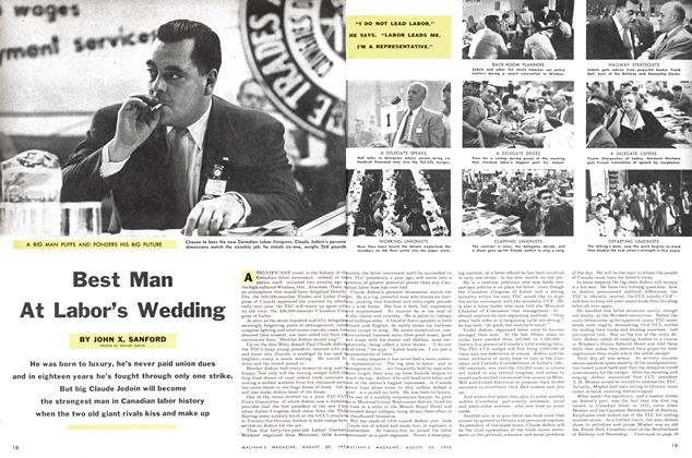 Article Preview: Best Man At Labor's Wedding, August 1955 | Maclean's
