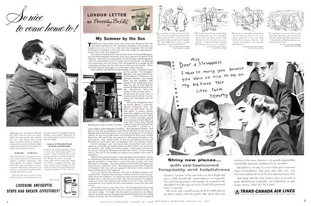 Article Preview: LONDON LETTER, August 1955 | Maclean's