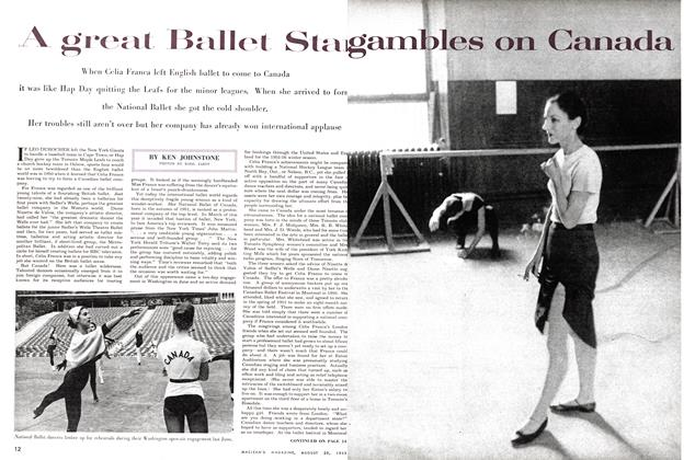 Article Preview: A great Ballet Star gambles on Canada., August 1955 | Maclean's