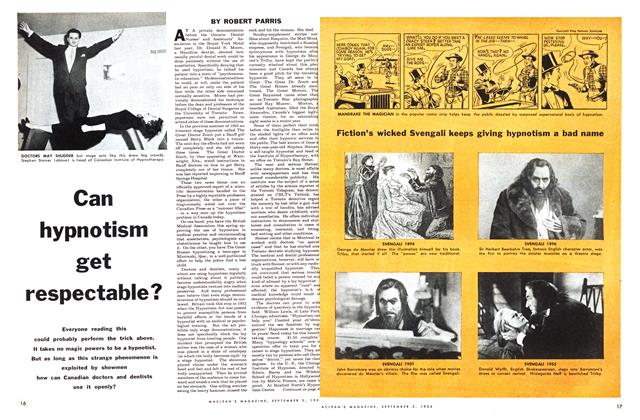Article Preview: Can hypnotism get respectable?, September 1955 | Maclean's