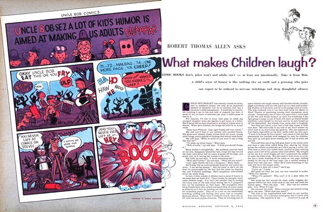 Article Preview: What makes Children laugh?, September 1955 | Maclean's