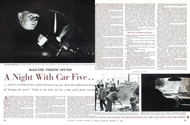 Article Preview: A Night With Car Five.., September 1955 | Maclean's