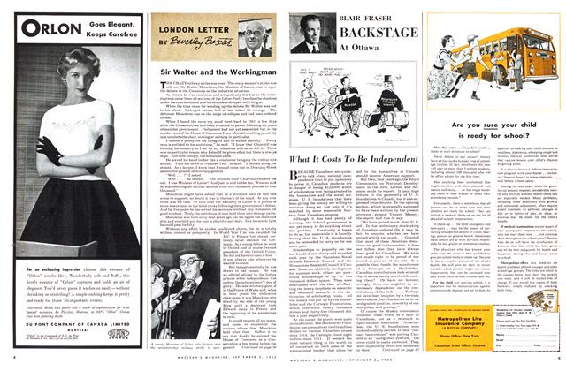 Article Preview: What It Costs To Be Independent, September 1955 | Maclean's