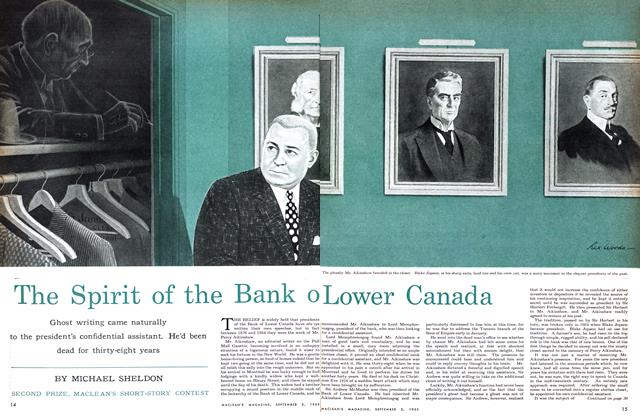 Article Preview: The Spirit of the Bank of Lower Canada, September 1955 | Maclean's