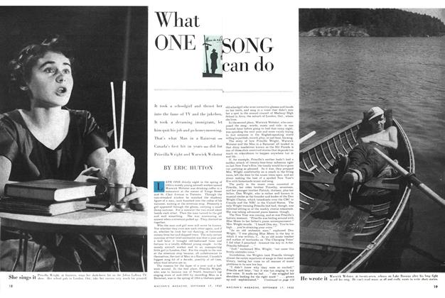 Article Preview: What ONE SONG can do, September 1955 | Maclean's