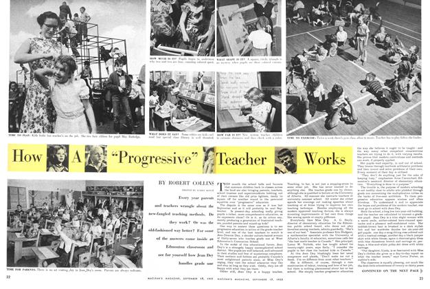 "Article Preview: How A ""Progressive"" Teacher Works, September 1955 
