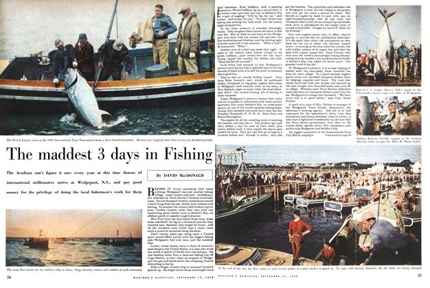 Article Preview: The maddest 3 days in Fishing, September 1955 | Maclean's
