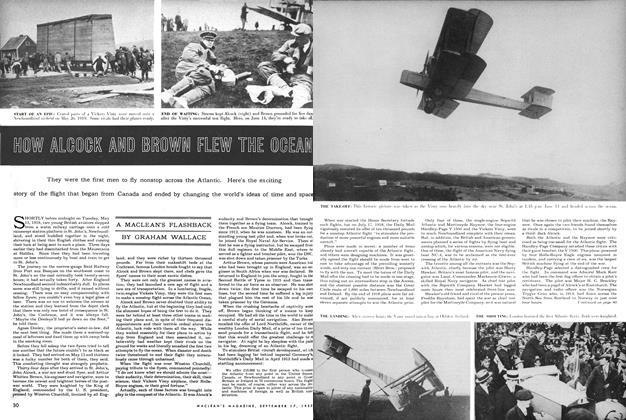 Article Preview: HOW ALCOCK AND BROWN FLEW THE OCEAN, September 1955 | Maclean's
