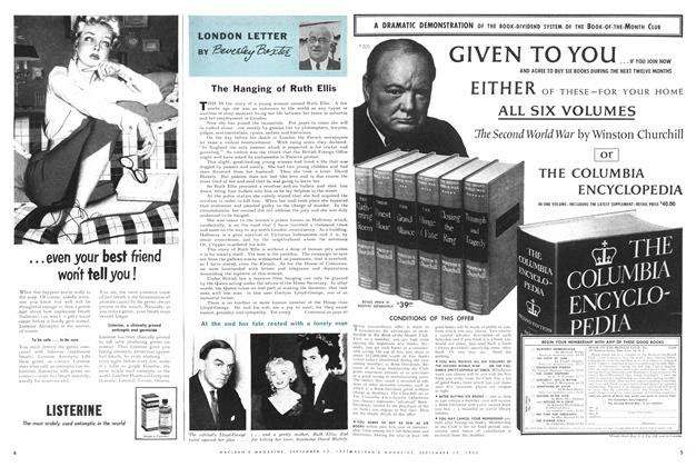 Article Preview: LONDON LETTER, September 1955 | Maclean's