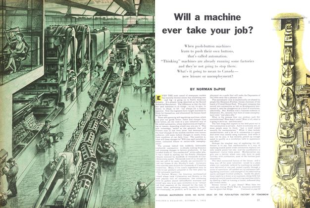 Article Preview: Will a machine ever take your job?, October 1955 | Maclean's