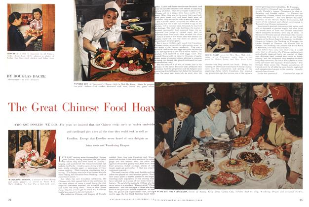 Article Preview: .The Great Chinese Food Hoax, October 1955 | Maclean's