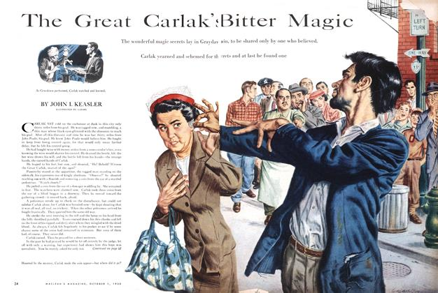 Article Preview: The Great Carlak's Bitter Magic, October 1955 | Maclean's