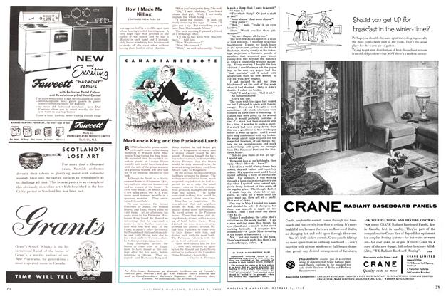 Article Preview: CANADIANECDOTE, October 1955 | Maclean's