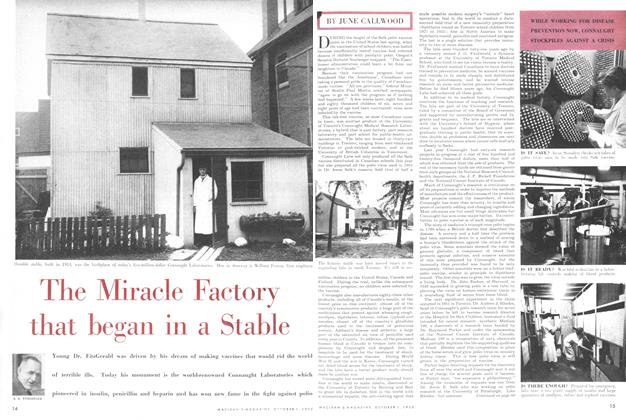 Article Preview: The Miracle Factory that began in a Stable, October 1955 | Maclean's