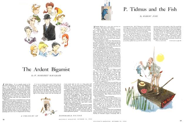 Article Preview: The Ardent Bigamist, October 1955 | Maclean's