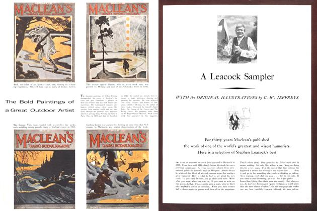 Article Preview: A Leacock Sampler, October 1955 | Maclean's