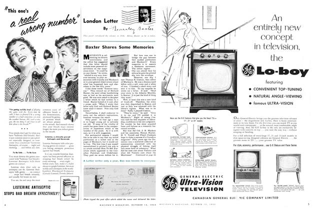 Article Preview: London Letter, October 1955 | Maclean's