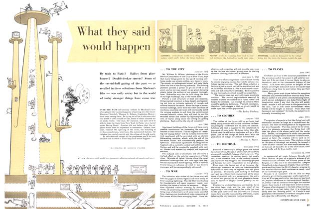 Article Preview: What they said would happen, October 1955 | Maclean's