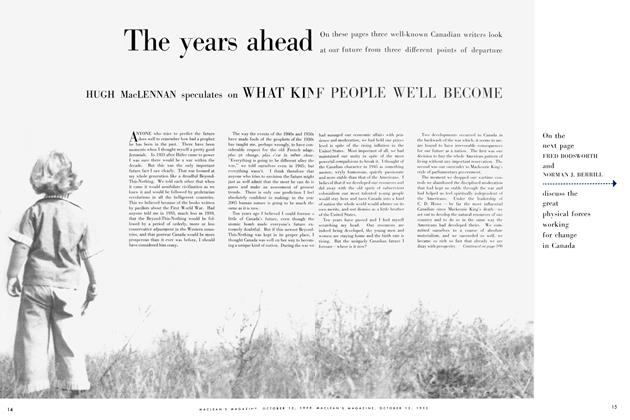Article Preview: The years ahead, October 1955 | Maclean's