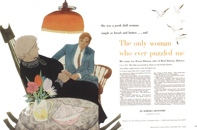 Article Preview: The only woman who ever puzzled me, October 1955 | Maclean's