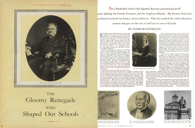 Article Preview: THE Gloomy Renegade WHO Shaped Our Schools, October 1955 | Maclean's