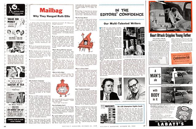 Article Preview: IN THE EDITORS' CONFIDENCE, October 1955 | Maclean's
