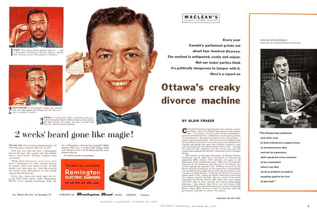 Article Preview: Ottawa's creaky divorce machine, October 1955 | Maclean's