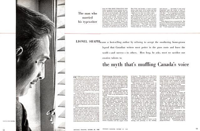 Article Preview: The Myth That's Muffling Canada's Voice, October 1955 | Maclean's