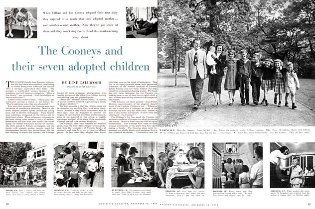 Article Preview: The Cooneys and their seven adopted children, November 1955 | Maclean's