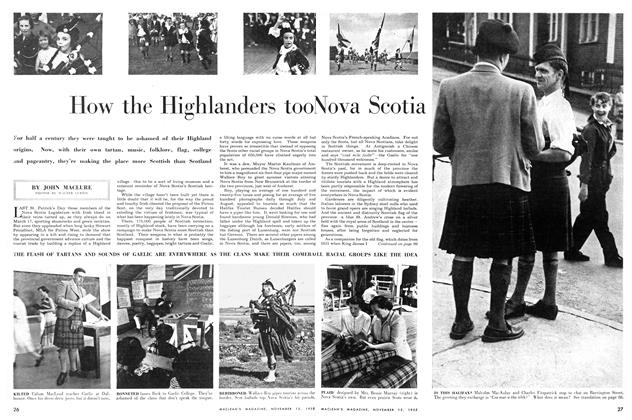 Article Preview: How the Highlanders took Nova Scotia, November 1955 | Maclean's