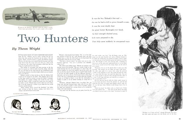 Article Preview: Two Hunters, November 1955 | Maclean's