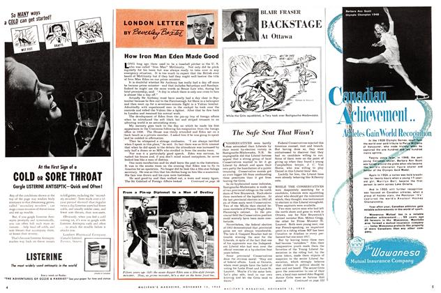 Article Preview: How Iron Man Eden Made Good, November 1955 | Maclean's