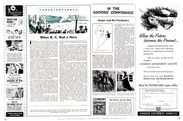 Article Preview: IN THE EDITORS' CONFIDENCE, November 1955 | Maclean's