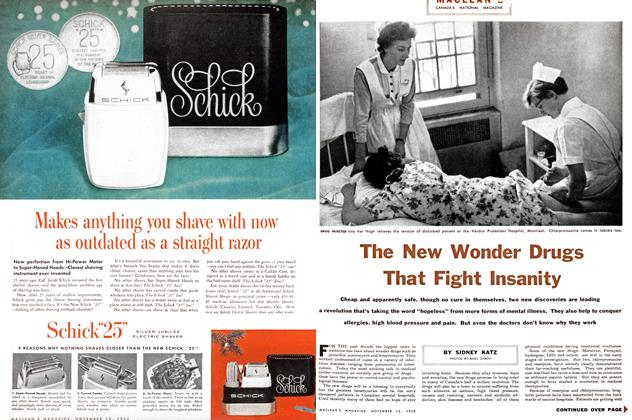 Article Preview: The New Wonder Drugs That Fight Insanity, November 1955 | Maclean's