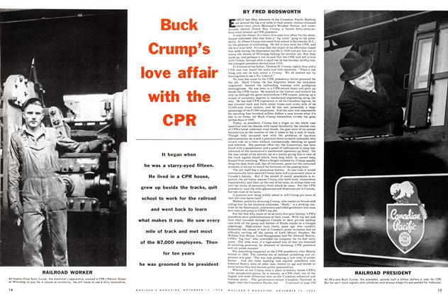 Article Preview: Buck Crump's love affair with the CPR, November 1955 | Maclean's