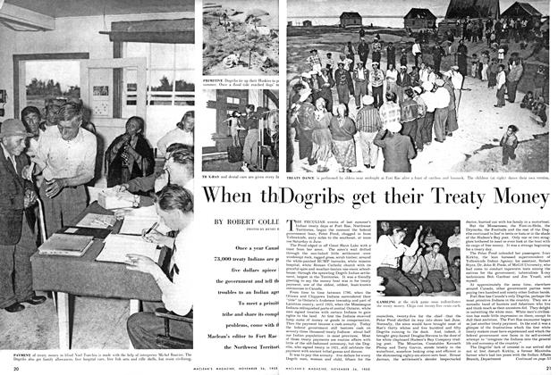 Article Preview: When the Dogribs get their Treaty Money, November 1955 | Maclean's