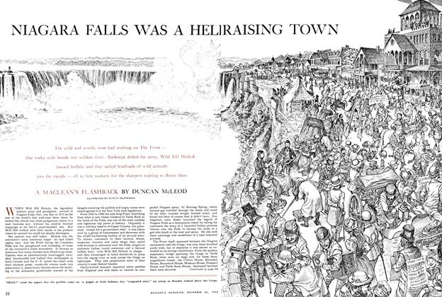 Article Preview: NIAGARA FALLS WAS A HELL RAISING TOWN, November 1955 | Maclean's