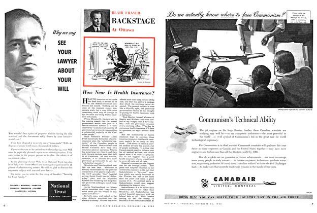 Article Preview: BACKSTAGE At Ottawa, November 1955 | Maclean's