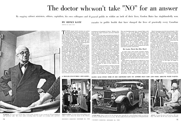 "Article Preview: The doctor who won't take ""NO"" for an answer, November 1955 